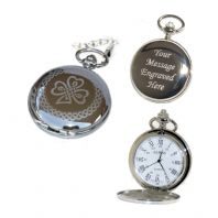 Irish Pocket Watch Roman Numerals Quartz